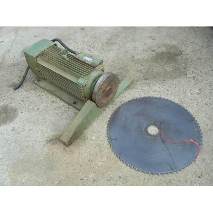 scie circulaire  moteur extra plat 10 cv   lames