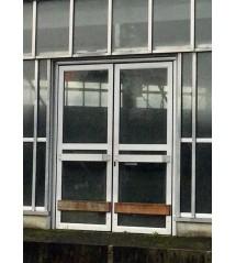 Double portes vitrée  alu.